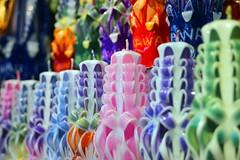 170724 Waikiki Candles, Honolulu, Hawaii (Christian Chene Tahiti) Tags: canon 6d honolulu hawaii oahu candle bougie waikikibeach blanc waikiki vert rose bleu pastel extérieur aloha couleur color