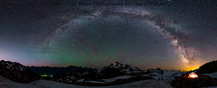 artist point panorama-ps logo (Light of the Moon Photography) Tags: milky way arch stars night sky airglow aurora tent artist point washington national forest wilderness explore explored