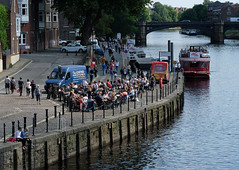 Summer afternoon by the river (Allan Rostron) Tags: york riverouse leisure pleasureboats pubs icecream thelowther
