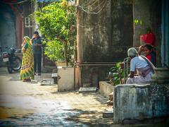 Mumbai 2015 (hunbille) Tags: birgittemumbai1lr india mumbai ghat steps walkeshwar temple complex walkeshwartemple malabarhill malabar hill bangangatank banganga tank lake bombay