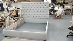 Bed Frame Tufted Headboard