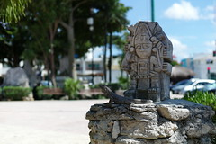 First iguana! (•Nicolas•) Tags: iguane iguana tulum mexique mexico vacances stele statue holidays mayan maya m9 nicolasthomas tourism tourisme visit visite city ville