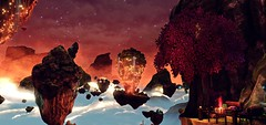 """""""Parallel universe"""" (L1netty) Tags: games screenshot astoryaboutmyuncle gaming reshade pc sky landscape nature outdoor gonenorthgames clouds stars lights rocks 4k videogame color scenery red"""