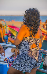 1321__0578FL (davidben33) Tags: sea ocean sun sky people children beach sand seagull breath sunbathing shore coney island joy music dance718