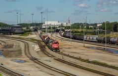 CN Hump Job at Harrison Yard, Memphis (travisnewman100) Tags: canadian national gp382s yard job hump remote locomotives railroad cn memphis tennessee harrison freight manifest train