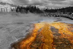 Black Pool - West Thumb Geyser Basin (Yellowstone National Park) (Kᵉⁿ Lᵃⁿᵉ (Instagram: @CarShowShooter)) Tags: geo:lat=4441831879 geo:lon=11057169288 geotagged unitedstates usa adventure gallatincounty geothermallandscape geyser hotspring httpsenwikipediaorgwikiyellowstonenationalpark httpswwwnpsgovyell landscape nationalpark nationalparkservice np nps parkcounty southcentralrockies tetoncounty thermalfeature tourism touristattraction travel travelblog travelphotography usnationalpark usnationalparkservice westthumb westthumbgeyserbasin worldsfirstnationalpark wy wyoming yellowstone yellowstonelake yellowstonenationalpark yellowstonenp ynp