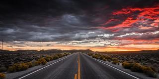 Road to Tonopha, Nevada USA