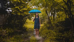379 Out of Place (Katrina Yu) Tags: selfportrait photoshop manipulation woman rain umbrella surrealphotography conceptual creative concept mood surreal photomanipulation 2017 365project