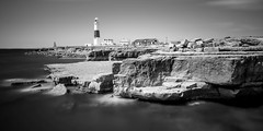 Portland Bill (Acero666) Tags: 2017 bw blackandwhite channel england englishchannel portlandbill aqua art darkart lighthouse longexposure published rocks sea surf water