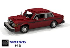 Volvo 142 - 1974 (lego911) Tags: volvo 142 coupe sedan 140 1974 1970s classic safe safety sweden swedish auto car moc model miniland lego lego911 ldd render cad povray lugnuts challenge 117 acultfollowing cult following foitsop