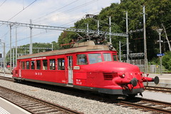 2017-08-01, DSF/OeBB, Koblenz, RBe 2/4 202 (Fototak) Tags: eisenbahn treno train railway switzerland koblenz dsf oebb roterpfeil flècherouge 202