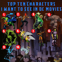 Top Ten Characters I Want To See in DC Movies (AntMan3001) Tags: top ten characters i want to see dc movies