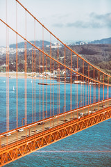 All Her Style and Beauty (Thomas Hawk) Tags: 75thbirthdaygoldengatebridge america batteryspencer california goldengatebridge marin marinheadlands sanfrancisco usa unitedstates unitedstatesofamerica bridge millvalley us fav10 fav25 fav50