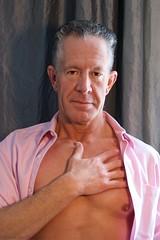 Alan Heartfelt Portrait (The Good Brat) Tags: us glamour model pink shirt man masculine handsome beautiful heartfelt portrait studio window windowlight