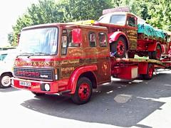 521a Bedford TL (1984) + Bedford MSD (1950) (robertknight16) Tags: bedford british 1950s 1980s msd tl recovery wrecker lorry truck stafford a868ocl jcj524