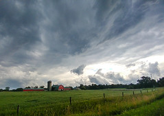 Threatening skies (NicoleW0000) Tags: farm weather red barn dark clouds pasture landscape