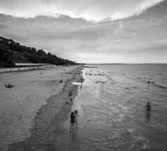 Cloudy Burgas (Pavel Valchev) Tags: canon sea bulgaria nex fe fullframe cropis stm 1018 wideangle adapter viltrox efs emount ilce alpha blackandwhite coast shore burgas af lens