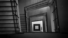 Levels (a_lima99) Tags: indoors monochrome bw day light step city urban architecture stair dramatic