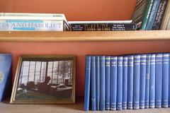 The bookshelf inside the Gazebo at Sissinghurst Castle (tedesco57) Tags: violet vita sackville west