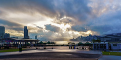 Clouds, Victoria Harbor HK (kcma17) Tags: sunset beach water sky blue red art fantastic marvelous intriguing fantastical beautiful clever subtle fine wonderful brilliant excellent splendid amazing remarkable landscape night