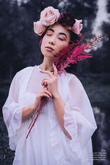 V E R (barleyphoto) Tags: fashion chinese asian flowers veil wedding bride roses rose weddingphotography girl woman portrait portraits portraiture availablelight natural nature naturallight