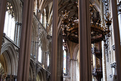 Columns, casements, candelabra and organ pipes, Ely (Richard Holland) Tags: elycathedral cambridgeshire gothic medieval gothicarchitecture