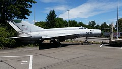 MiG-21MF 5210 c/n 965210 ex Czech Air Force. Preserved, Pratteln, Switzerland. 16 July 2017. (Aircraft throughout the years) Tags: mikoyan gurevich mig21 fishbed mig21mf 5210 cn 965210 czechairforce czech air force preserved pratteln switzerland swiss july 2017