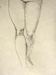 Study of Raphael's Leda and the swan (Steven & Joey Thompson) Tags: renaissance masters raphael leda swan copy drawing kness bulges