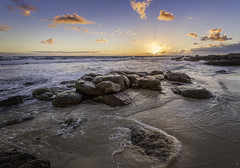 Beach Sunset (JChipchase) Tags: nikon d750 gnarabup westernaustralia rocks