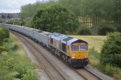 66752 at North Anston [1 of 2] (parkgateparker) Tags: gbrf 66752 northanston syjnt southyorkshirejoint aggregate jna