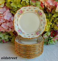 Rosenthal Porcelain Plates Pompadour Cherish Roses Gold Encrusted (Donna's Collectables) Tags: rosenthal porcelain plates pompadour cherish roses gold encrusted