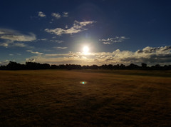 This time I focussed on the Sun (Paul Threlfall) Tags: sun light clouds sky field mood moody dark blur winter chelsea