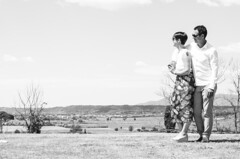 A&A (Vn_Lc) Tags: coppia festa battesimo campagna tuscany toscana vista summer morning mattina party photos bw biancoenero blackandwhite