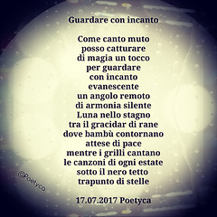Guardare con incanto (Poetyca) Tags: featured image immagini e poesie sfumature poetiche poesia