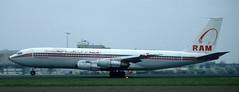 B707 | CN-RMB | AMS | 19910401 (Wally.H) Tags: boeing 707 boeing707 b707 cnrmb ram royalairmaroc ams eham amsterdam schiphol airport