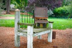 A Bench, A BirdHouse, And A Bucket .. (~ Cindy~) Tags: hbm rockwood bench birdhouse bucket