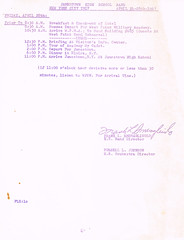 Band Orchestra NYC trip itinerary p.6 (terry lorenc) Tags: jhs class 1967 jamestown high school new york