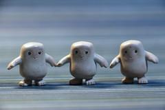 Three Adipose are We (ShellyS) Tags: doctorwho adipose actionfigures miniatures toys macromondays three