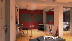 Estudio Grabación Cámara 1 Final (eestudio_nqn) Tags: música instrumentos estudio sonido vray 3dsmax bateria guitarra teclado consola photoshop diseño