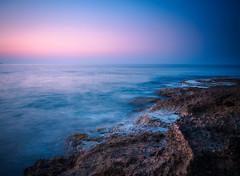(N.H.    Photography) Tags: olympus omd em 10 m zuiko 1442 mm pancake lense kreta greek greece crete water ocean sunset stones long exposure blue purple smooth light