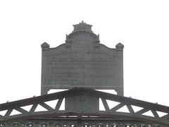 Sign On The Highgate Falls Bridge (amyboemig) Tags: highgate falls vermont 251 iron bridge victorian douglas jarvis patent parabolic truss douglasjarvispatentparabolictrussironbridge