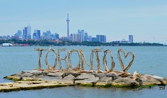The Toronto Driftwood Sign .... Toronto, Ontario, Canada (Greg's Southern Ontario (catching Up Slowly)) Tags: torontodriftwoodsign driftwood humberbaypark torontoskyline skyline inspiration amazing awesome beauty creation