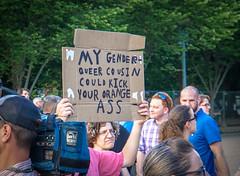 2017.07.26 Protest Trans Military Ban, White House, Washington DC USA 7620