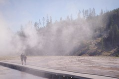 Last Hike (michael.veltman) Tags: yellowstone national park steam boardwalk boys spring hiking