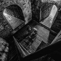 What Lies Beneath (B. Versteeg) Tags: kasteel germany castle people kings queens fuji 1024mm ios fujinon old stairs walls muren bogen light licht bentheim bad