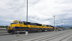 Welcom Sight for Tired Eyes (GRNDMND) Tags: trains railroads alaska railroad locomotive sd70mac emd denalistar anchorage