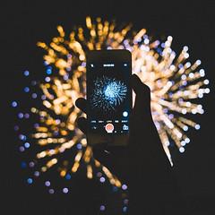 Everglow (stanley yuu) Tags: firework iphone osaka japan 大阪 日本 花火 夜 天神祭 煙火