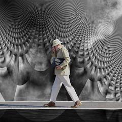 under pressure. (Photomaginarium) Tags: canon powershot candid street streetphotography manipulation underpressure queen bowie straightandnarrow