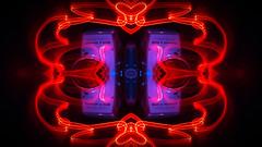 Red Hearted Cameras (jgesq) Tags: camera vintage lightpainting light lightbrushtools lightpaintingbrushes lightblading godlight stills stilllife neon bright color illustration design popart fineart streak streaks bnw monochrome artgallery studio fire iron metal steel