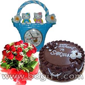 Bdclock1 B Send Gifts To Bangladesh Tags Birthday Cake Dhaka Flower